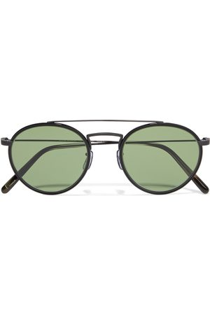 OLIVER PEOPLES Woman Ellice Round-frame Titanium Sunglasses Size