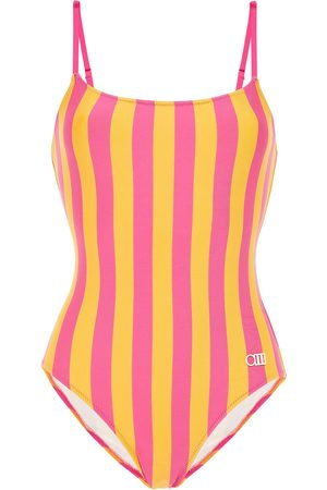 SOLID & STRIPED Women Swimsuits - Woman The Nina Striped Swimsuit Size L