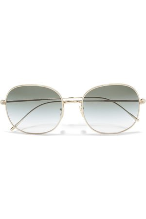 OLIVER PEOPLES Women Square - Woman Mehrie Square-frame Gold-tone Sunglasses Grey Size
