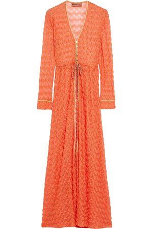 MISSONI MARE Woman Metallic-trimmed Crochet-knit Kaftan Bright Size 44