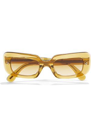 OLIVER PEOPLES Women Square - Woman Saurine Rectangle-frame Acetate Sunglasses Mustard Size