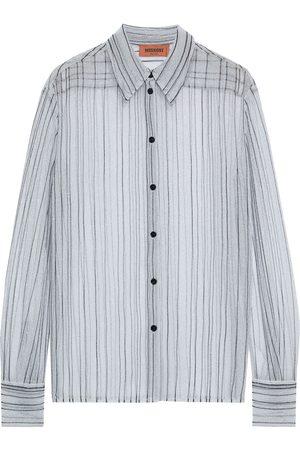 MISSONI Women Long sleeves - Woman Metallic Crochet-knit Shirt Size 40