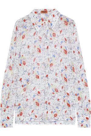 MISSONI Women Long sleeves - Woman Floral-print Metallic Crochet-knit Shirt Size 36