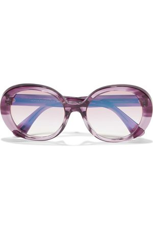 OLIVER PEOPLES Woman Leidy Oversized Round-frame Acetate Sunglasses Size