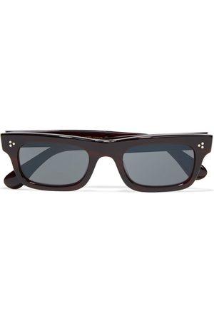 OLIVER PEOPLES Woman Jaye Rectangle-frame Acetate Sunglasses Merlot Size
