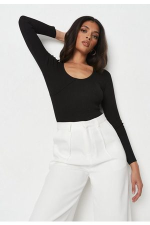 Missguided Recycled Cupped Scoop Neck Knit Bodysuit