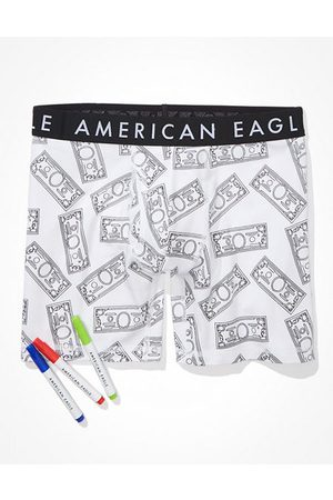 American Eagle Outfitters O Dollar Bills Doodle 6 Classic Boxer Brief Men's XS