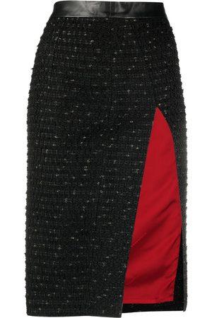 Dsquared2 Side-slit tweed skirt