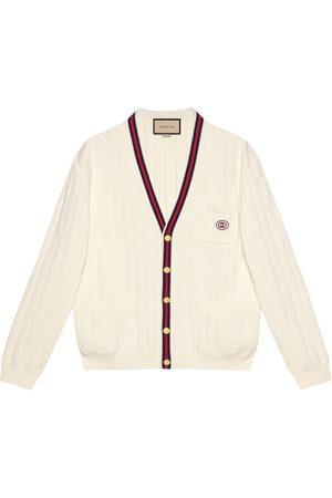 Gucci Men Cardigans - Web-trim cotton cardigan