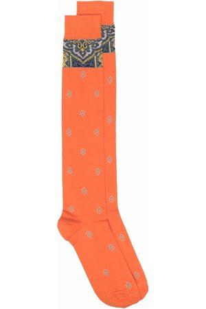 Etro Men Socks - Paisley-knit socks