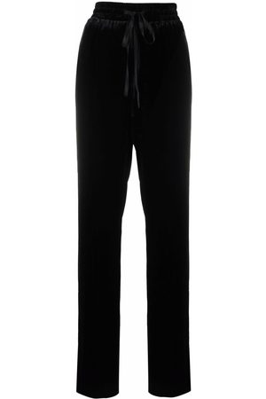 RED Valentino Women Sweatpants - Velvet straight-leg track pants