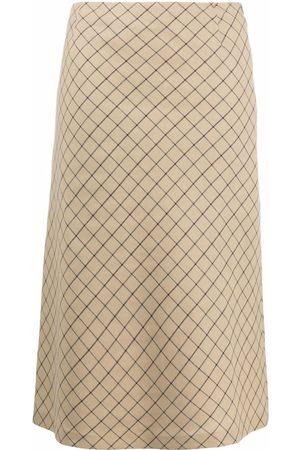 Maison Margiela Women Skirts - Grid-check skirt - Neutrals