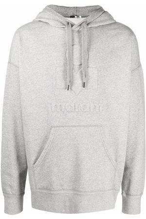 Isabel Marant Men Hoodies - Logo-print pullover hoodie - Grey