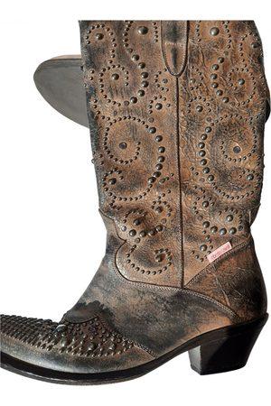 Roberto Cavalli Leather Boots