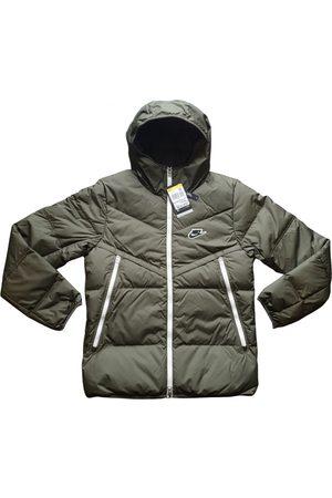Nike Khaki Polyester Coats