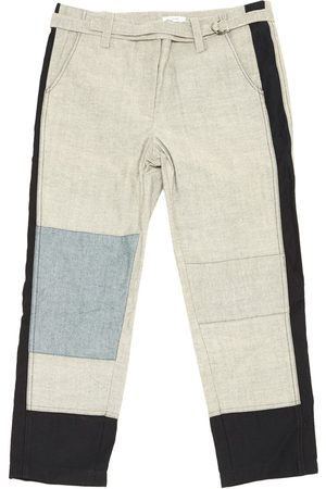 TOME Grey Cotton Trousers