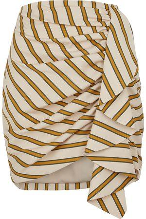 In the Mood for Love Tassia striped ruffled mini skirt