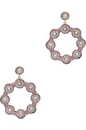 Soru Jewellery Women Earrings - Embellished 18kt gold-plated drop earrings