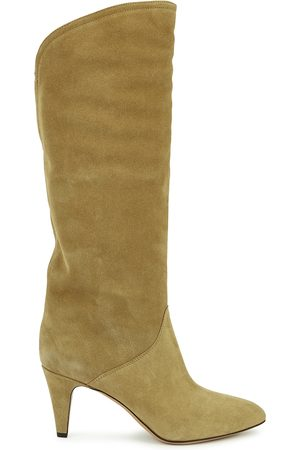 Isabel Marant Laylis 75 camel suede knee-high boots