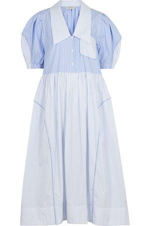 Lee Mathews Diana striped cotton shirt dress