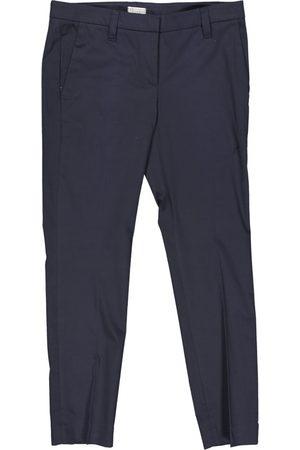 Brunello Cucinelli Navy Cotton Trousers