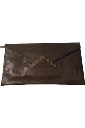 Anya Hindmarch Grey Leather Clutch Bags