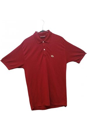 Lacoste Burgundy Cotton Polo Shirts