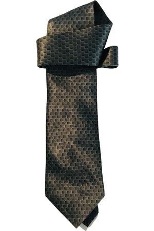 Lanvin Khaki Silk Ties