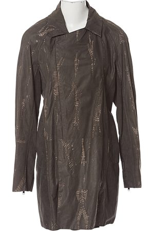 Roberto Cavalli Anthracite Leather Jackets