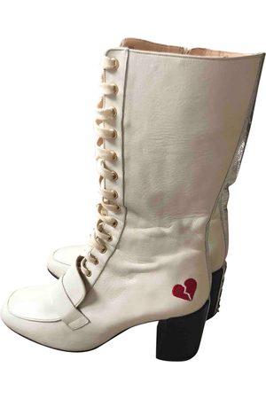 HAVVA Ecru Leather Boots
