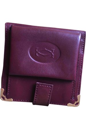 Cartier Burgundy Leather Small Bags\, Wallets & Cases
