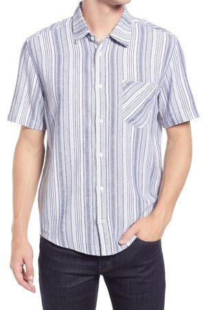 BLANK NYC Men's Men's Prime Shine Slim Fit Short Sleeve Button-Up Shirt