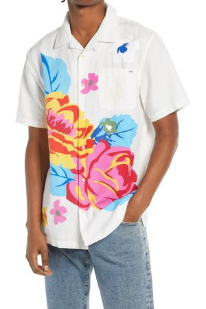 Vans Men's Anaheim Floral Short Sleeve Button-Up Cotton & Linen Camp Shirt