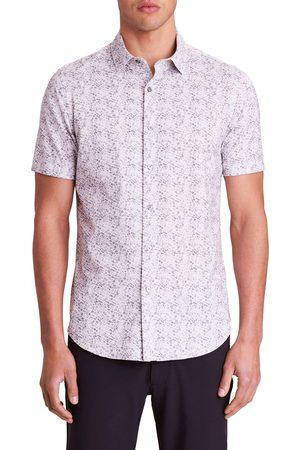Bugatchi Men Short sleeves - Men's Ooohcotton Tech Grid Knit Short Sleeve Button-Up Shirt