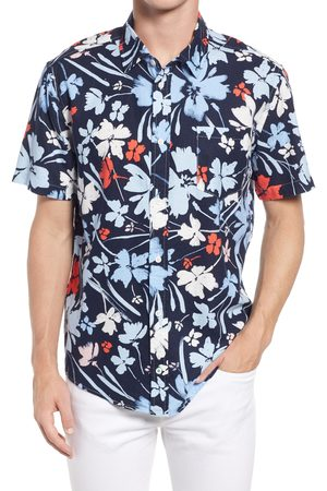 BLANK NYC Men Short sleeves - Men's Men's Just Deserts Slim Fit Short Sleeve Button-Up Shirt