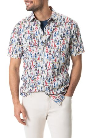 Rodd & Gunn Men's Blind River Sailboat Print Short Sleeve Button-Up Shirt