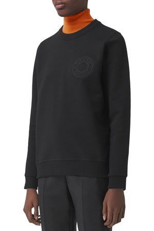 Burberry Women's Poulter Roundel Logo Embroidered Sweatshirt