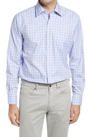 Peter Millar Men's Crown Ease Cooper Regular Fit Stretch Check Button-Up Shirt