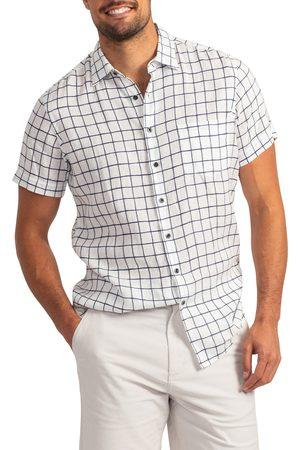 Rodd & Gunn Men's Windsoe Windowpane Short Sleeve Linen Button-Up Shirt