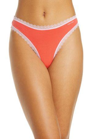 Calvin Klein Women's Flirty Lace Trim Thong