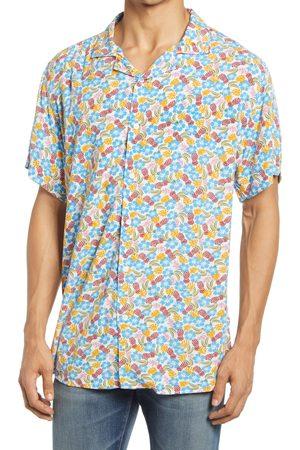 Nicola Benson Men Short sleeves - Men's Floral & Pineaple Short Sleeve Button-Up Camp Shirt
