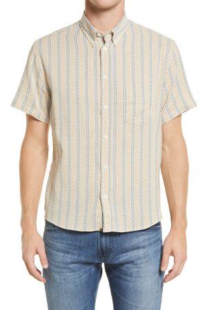 BILLY REID Men Short sleeves - Men's Kirby Slim Fit Stripe Short Sleeve Button-Down Shirt