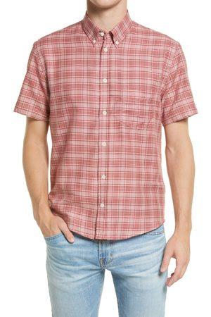 BILLY REID Men's Kirby Slim Fit Plaid Short Sleeve Button-Down Shirt