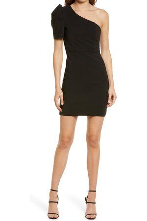 Lulus Stay Gorgeous One-Shoulder Sheath Minidress