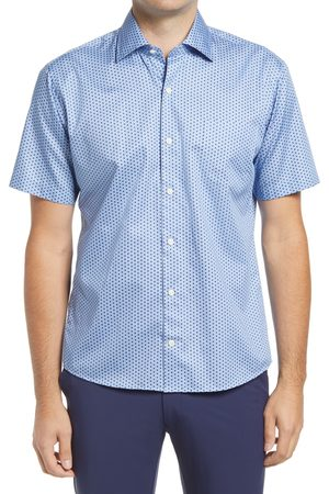 Peter Millar Men Short sleeves - Men's Philip Regular Fit Short Sleeve Button-Up Shirt