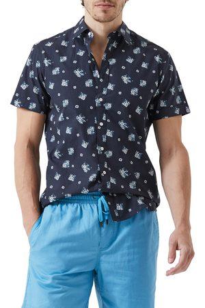 Rodd & Gunn Men's Central Otago Sports Fit Ikat Short Sleeve Button-Up Shirt