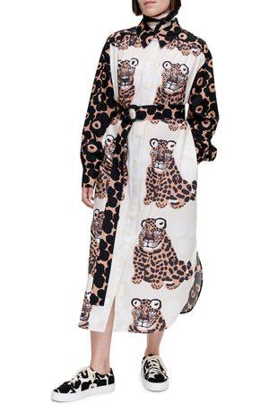 Marimekko Women's Savannilla Kaksoset Unikko Long Sleeve Shirtdress