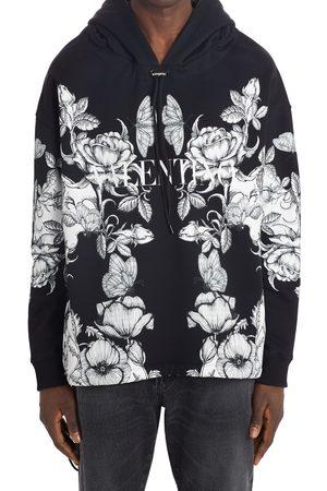 VALENTINO Men's Floral Print Zip Hoodie