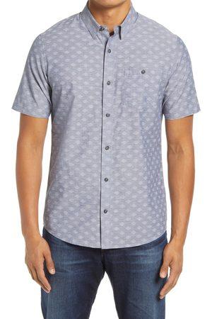 Travis Mathew Men's Whatta Catch Geo Print Short Sleeve Button-Up Shirt