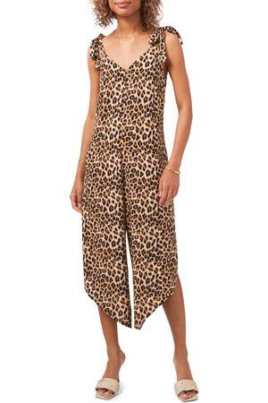 Vince Camuto Women Jumpsuits - Women's Leopard Tie Strap Jumpsuit